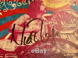 NICK MASON (Pink Floyd) AUTOGRAPHED SIGNED 2019 CONCERT TOUR POSTER! CHICAGO