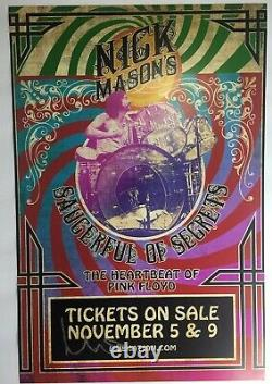 NICK MASON SIGNED AUTOGRAPH PINK FLOYD 12X18 PHOTO POSTER withPROOF B