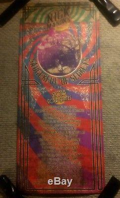 NICK MASON SIGNED SAUCERFUL OF SECRETS TOUR POSTER PINK FLOYD RARE Roger Waters