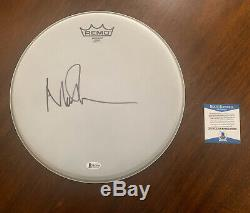 Nick Mason Pink Floyd Signed 12 Drumhead Autographed BAS Cert# H13386