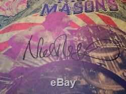 Nick Mason Saucerful of Secrets Drum Head POSTER Signed Roundhouse Pink Floyd UK