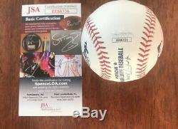 Nick Mason Signed Autograph ROMLB baseball Pink Floyd Proof JSA COA