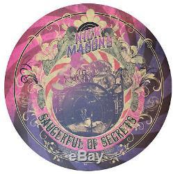 Nick Mason signed Pink Floyd's Saucerful or Secrets HUGE round poster #8/250