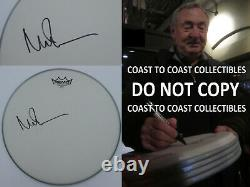 Nick Mason signed autographed Drumhead 14'', Pink Floyd, COA, with Exact Proof