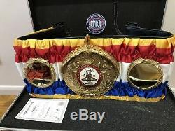 Official WBA Super Champion Boxing Belt Signed By Floyd Mayweather IBF, WBA, WBC