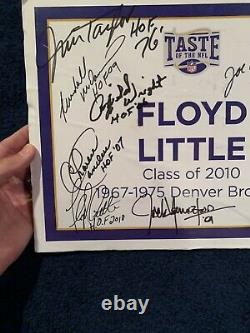 PERSONALLY OWNED FLOYD LITTLE SIGN FROM 2010 HOF INDUCTION SIGNED BY MANY HOFer