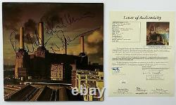 PINK FLOYD Autograph X4 GROUP IN-PERSON Signed Animals Record LP JSA Authentic
