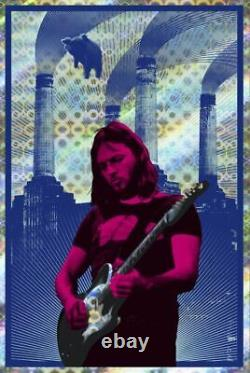 PINK FLOYD DAVID GILMOUR Signed Limited edition foil print #5 CARL GLOVER 24x36