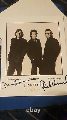 PINK FLOYD David Gilmour Nick Mason band Signed Autograph 8x10 COA PSA JSA BAS