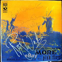PINK FLOYD More LP SIGNED RECORD x4 David Gilmour, Roger Waters, Rick and Nick