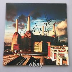 PINK FLOYD Roger Waters & Nick Mason In-person 2018 signed LP + Fotos RARITÄT