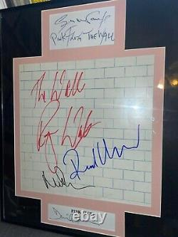 PINK FLOYD Signed The Wall Display X5. PSA / Epperson COA