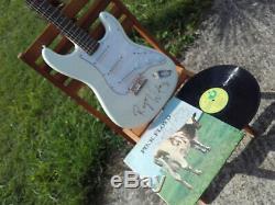 PINK FLOYD autogramm ROGER WATERS strat FENDER lp vinyle first press signed live