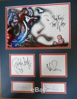 PINK FLOYD personally BAND signed mounted and matted & GERALD SCARF