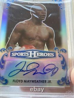 PSA 9 POP (1) Leaf 1/5 Floyd Mayweather Jr 4 Card Investment LOT Signed Auto
