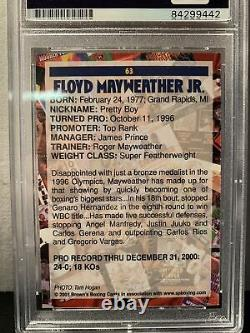 PSA AUTHENTIC 2001 Browns Floyd Mayweather SIGNED Bonus CardScarcerThan His RC