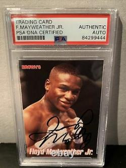 PSA Authentic Floyd Mayweather Signed 1999 Browns Bonus Card 2nd Rookie Card