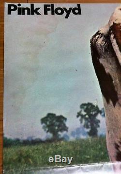 Pink Floyd Autograph 1970 Atom Heart Mother Signed Promo Udder + Poster+ Mailer