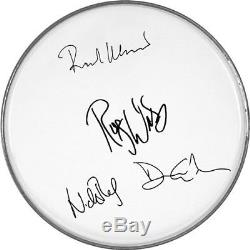 Pink Floyd Autographed Facsimile Signed Fender Drumhead David Gilmour Roger Wate