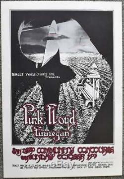 Pink Floyd Concert Poster Randy Tuten Signed San Diego 1971
