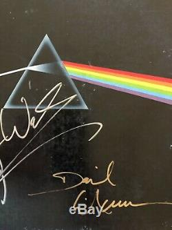 Pink Floyd Dark Side LP Originally Autographed By Roger Waters David Gilmour