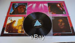 Pink Floyd Dark Side Of The Moon 1973 UK 1st Press Solid Blue + Signed Poster