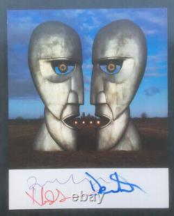 Pink Floyd Division Bell Signed Promotional A4 Card Print Gilmour, Wright, Mason