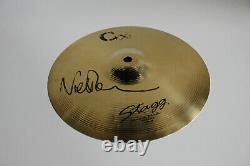 Pink Floyd Drummer Nick Mason Signed' 10 Drum Cymbal Splash Beckett Coa Bas