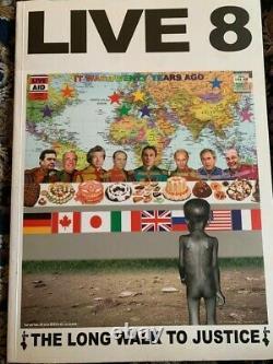 Pink Floyd Fully Signed Live 8 Book X4 Full Coa