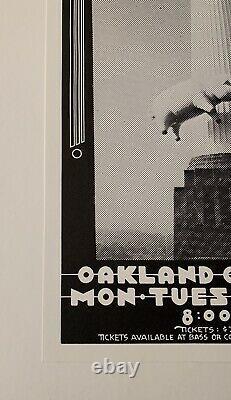 Pink Floyd Original 1977 Concert Poster at Oakland Coliseum (Randy Tuten) Signed