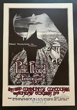 Pink Floyd Original Concert Poster at the San Diego Community Concourse Signed
