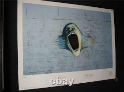 Pink Floyd Plate/signed & Numbered Lithograph The Wall 19.5 X 26