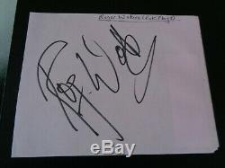 Pink Floyd / Roger Waters Autograph A Vintage Signed Autograph Book Page