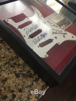 Pink Floyd Roger Waters David Gilmore Mason Wright Signed Pickguard COA Boxed