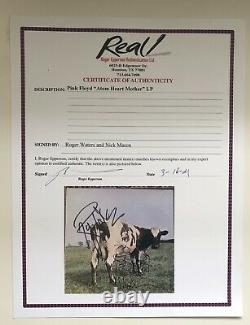 Pink Floyd Roger Waters Nick Mason Signed Atom Heart Mother Lp Epperson COA