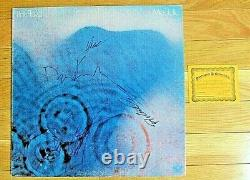 Pink Floyd Signed Autographed Meddle Lp Album X4 Gilmour Waters Mason Wright Coa