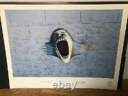 Pink Floyd THE WALL Plate Signed Numbered Litho Print Gerald Scarfe Roger Waters