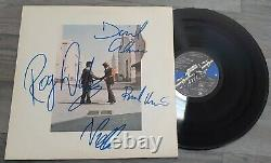 Pink Floyd Wish You Were Here Vinyl Lp Signed Autographed Very Rare