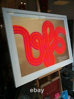 Pink Floyd poster HAPSHASH OFFICIAL print UFO club 67 Signed by Nigel Waymouth