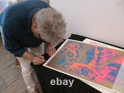 Pink Floyd poster Hapshash OFFICIAL print UFO club 1967 Signed Nigel Waymouth