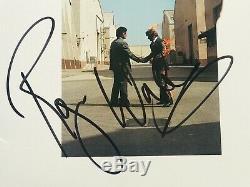 Pink Floyd signed album wish you were here Roger Waters Nick Mason dual fa loa