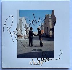 Pink Floyd signed album wish you were here Roger Waters Nick Mason fa loa