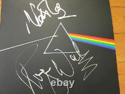 Pink Floyd signed lp Dark Side ACOA + Exact Proof! Roger Waters Nick Mason album