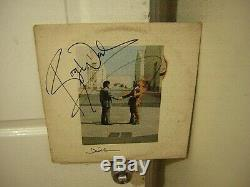 Pink Floyd signed lp Wish You Were Here 19772 band members