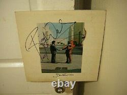 Pink Floyd signed lp Wish You Were Here19752 members