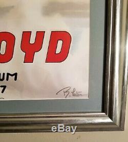 Pink floyd 1977 concert poster original Signed