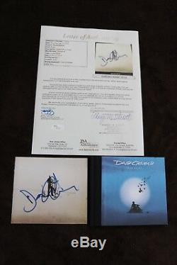 RARE DAVID GILMOUR SIGNED ON AN ISLAND CD ALBUM WITH JSA COA PINK FLOYD psa