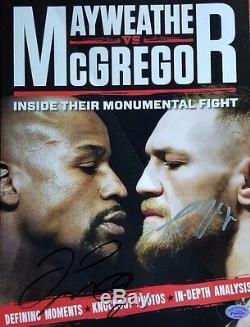 RARE! Floyd Mayweather Conor McGregor Hand Signed Magazine Todd Mueller COA