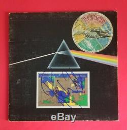 ROGER WATERS SIGNED PINK FLOYD DARK SIDE OF THE MOON ALBUM WITH BAS COA psa jsa