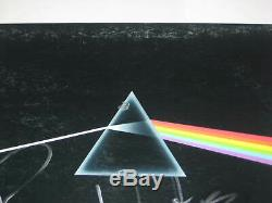 ROGER WATERS Signed Pink Floyd DARK SIDE of the MOON LP Cover + Beckett LOA